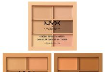 Credits: https://camerareadycosmetics.com/products/nyx-conceal-correct-contour-palette
